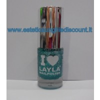Layla Nail Polish Smalto I Love Layla  - 11 GLITTY GREEN