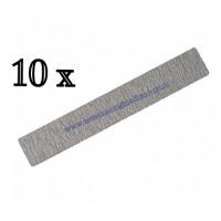 10 Lime rettangolari grana 100/180 grigia