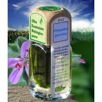 Puro olio essenziale d'origine BIOLOGICA di GERANIO AFRICANO (Pelargonium graveolens).