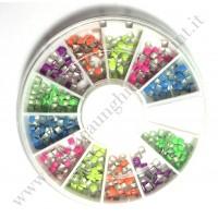 Rondella Nail Art Borchiette Quadrate Colorate