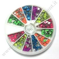 Rondella Nail Art Borchiette Cuoricini Colorati