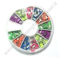 Rondella Nail Art Borchiette Rettangolari Colorate