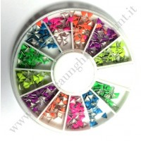 Rondella Nail Art Borchiette Triangolari Colorate