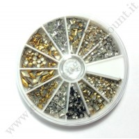 Rondella Nail Art Borchie Gold & Silver Forme Varie