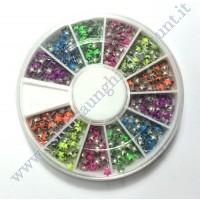 Rondella Nail Art Borchiette Stellari Colorate
