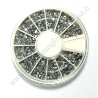 Rondella Nail Art Brillantini Piccoli Tondi Crystal