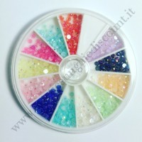 Rondella Nail Art Mezze Perle Colorate 2
