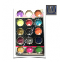 Set 15 barattolini Glitter Colorati Nail Art