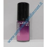Layla Smalto Nail Polish Thermo Effect - 05  DARK TO LIGHT VIOLET