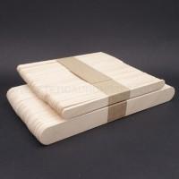 50 Spatola in legno Monouso PICCOLE 11X1CM + 50 Spatola in legno GRANDE 15X1,5CM.