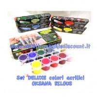 SET DeLuxe 36 Colori Acrilici per Micropittura/NailArt completo di tutti i colori Oksana Bilous