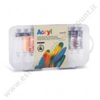 Colore acrilico nail art fine  10 colori 18 ml.