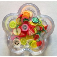 Decorazioni Fimo frutta mista