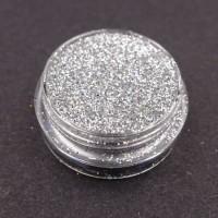 Glitter nail art argento.