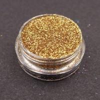 Glitter nail art Gold