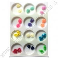 SET decorazioni nail art Fiori 3D