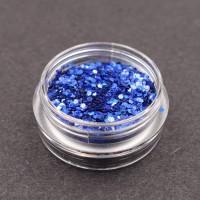 Paillette nail art Blu
