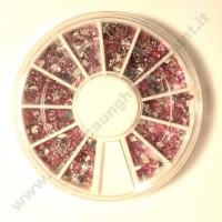 Rondella Nail Art Brillantini Rosa