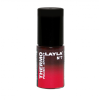 Layla Smalto Nail Polish Thermo Effect - 07 BORDEAUX TO RED