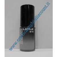 Layla Smalto Nail Polish Thermo Effect - 08 BLACK TO GREY
