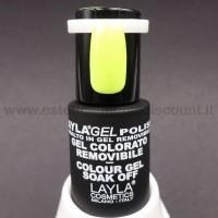 Layla Gel Polish Smalto Gel Semipermanente - 231 yellow fluo glitter.