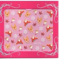 Stickers Nail Art NATALE FIOCCHI NEVOSI XF372