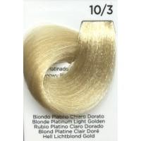 Tinta Colorante Professionale per capelli con ammoniaca Inebrya Biondo Platino Chiaro Dorato 10.3