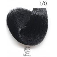 Tinta Colorante Professionale per capelli con ammoniaca Inebrya Nero 1.0