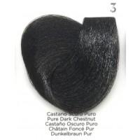 Tinta Colorante Professionale per capelli con ammoniaca Inebrya Castano Scuro Puro 3