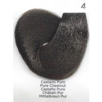 Tinta Colorante Professionale per capelli con ammoniaca Inebrya Castano Puro 4