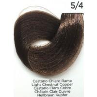Tinta Colorante Professionale per capelli con ammoniaca Inebrya Castano Chiaro Rame 5.4
