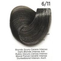 Tinta Colorante Professionale per capelli con ammoniaca Inebrya Biondo Scuro Cenere Intenso 6.11