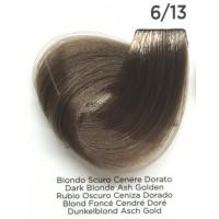 Tinta Colorante Professionale per capelli con ammoniaca Inebrya Biondo Scuro Cenere Dorato 6.13