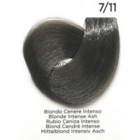 Tinta Colorante Professionale per capelli con ammoniaca Inebrya Biondo Cenere Intenso 7.11