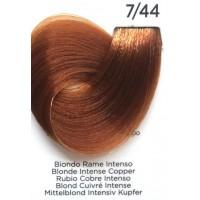 Tinta Colorante Professionale per capelli con ammoniaca Inebrya Biondo Rame Intenso 7.44