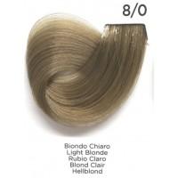 Tinta Colorante Professionale per capelli con ammoniaca Inebrya Biondo Chiaro 8.0