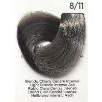 Tinta Colorante Professionale per capelli con ammoniaca Inebrya Biondo Chiaro Cenere Intenso 8.11