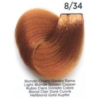 Tinta Colorante Professionale per capelli con ammoniaca Inebrya Biondo Chirao Dorato Rame 8.34