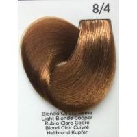 Tinta Colorante Professionale per capelli con ammoniaca Inebrya Biondo Chiaro Rame 8.4