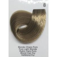 Tinta Colorante Professionale per capelli con ammoniaca Inebrya Biondo Chiaro Puro 8