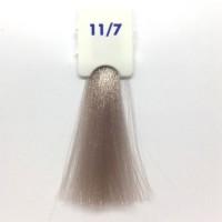 Crema Colorante INEBRYA Bionic Color senza ammoniaca Professionale Permanente 11.7 Super Biondo Platino Irisè