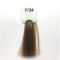 Crema Colorante INEBRYA Bionic Color senza ammoniaca Professionale Permanente 7.34 Biondo Dorato Rame