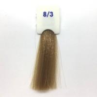 Crema Colorante INEBRYA Bionic Color senza ammoniaca Professionale Permanente 8.3 Biondo Chiaro Dorato