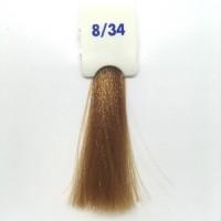 Crema Colorante INEBRYA Bionic Color senza ammoniaca Professionale Permanente 8.34 Biondo Chiaro Dorato Rame