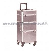 Trolley Alluminio glitterato per accessori unghie/estetica