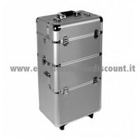 Trolley Alluminio accessori unghie/estetica