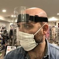 Visiera protettiva in Plexiglass con fascia elastica regolabile