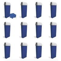 Kit 12pz BLU AZULENE- Cartucce di Cera Calda Blu Epilatoria da 100ml cadauna Testina Larga
