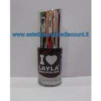 Layla Nail Polish Smalto I Love Layla  - 24 RED NOIR