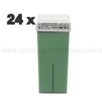 Scatola 24 Cera Liposolubile Ro.ial Rullo Cartuccia da 100 ml alla Mela Verde